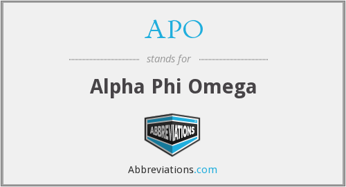 What does APO stand for?