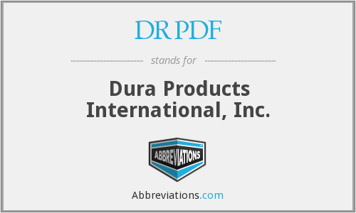 What does DRPDF stand for?