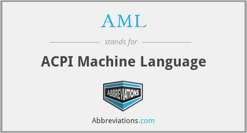 AML - ACPI Machine Language
