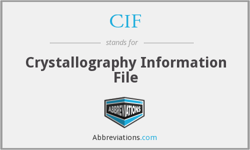 CIF - Crystallography Information File