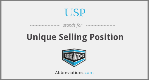 USP - Unique Selling Position
