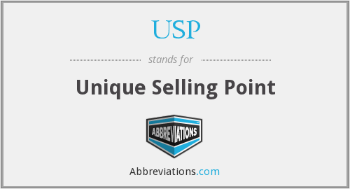USP - Unique Selling Point