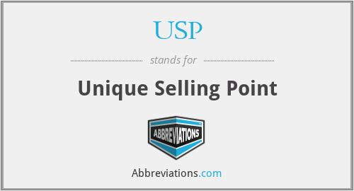USP - Unique Selling Point