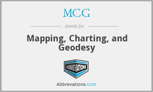 MCG - Mapping Charting And Geodesy