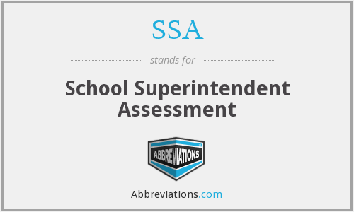 SSA - School Superintendent Assessment