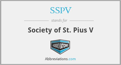 SSPV - Society of St. Pius V