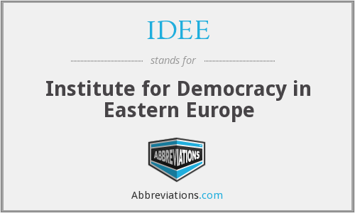 IDEE - Institute for Democracy in Eastern Europe