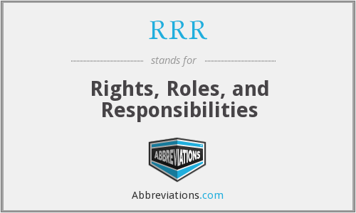 RRR - Rights, Roles, and Responsibilities
