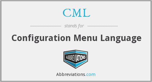 CML - Configuration Menu Language