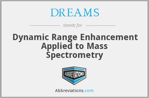 DREAMS - Dynamic Range Enhancement Applied to Mass Spectrometry