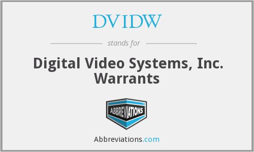 What does DVIDW stand for?