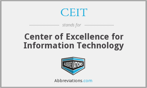 What does CEIT stand for?