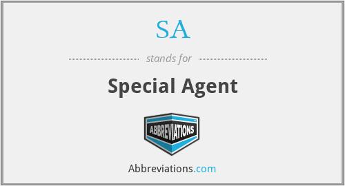 SA - Special Agent