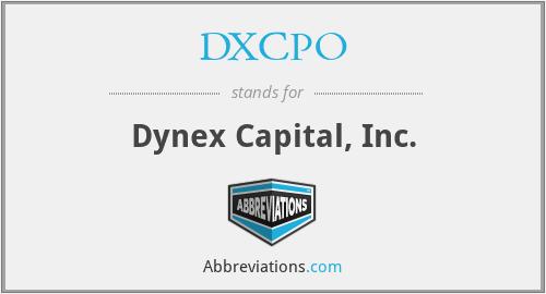 DXCPO - Dynex Capital, Inc.