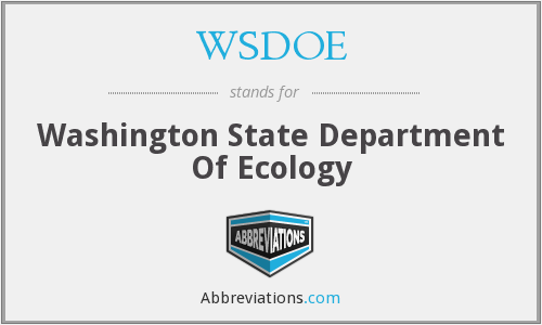 What does WSDOE stand for?