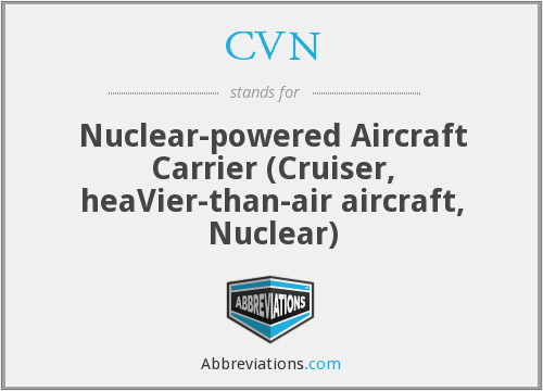 CVN - Nuclear-powered Aircraft Carrier (Cruiser, heaVier-than-air aircraft, Nuclear)