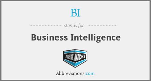 BI - Business Intelligence