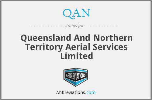 QAN - Queensland And Northern Territory Aerial Services Limited