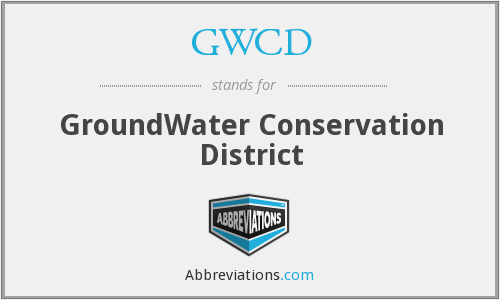 GWCD - GroundWater Conservation District