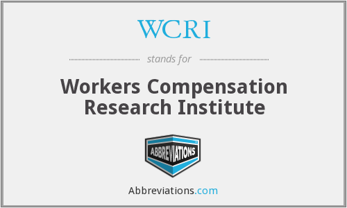 What does WCRI stand for?