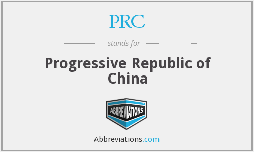 PRC - Progressive Republic of China