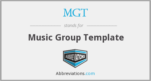 MGT - Music Group Template