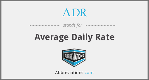 ADR - Average Daily Rate