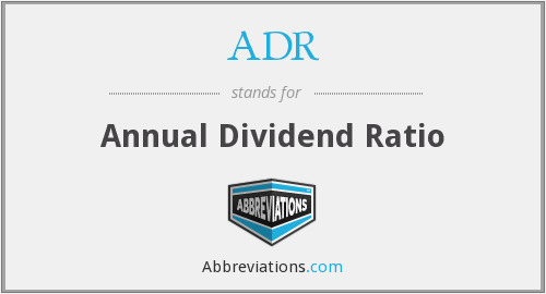 ADR - Annual Dividend Ratio