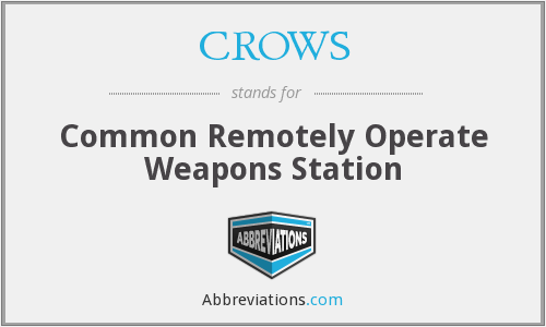 CROWS - Common Remotely Operate Weapons Station