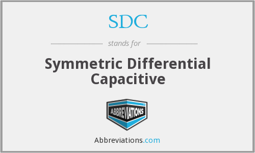 SDC - Symmetric Differential Capacitive