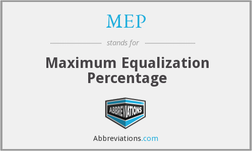 MEP - Maximum Equalization Percentage