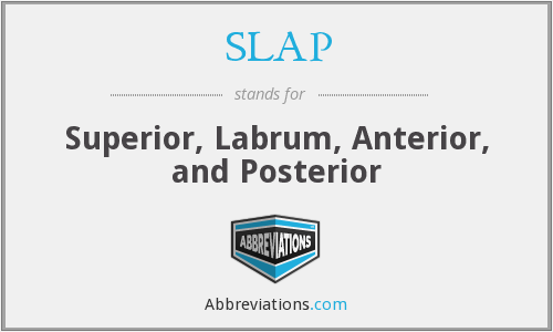 SLAP - Superior, Labrum, Anterior, and Posterior