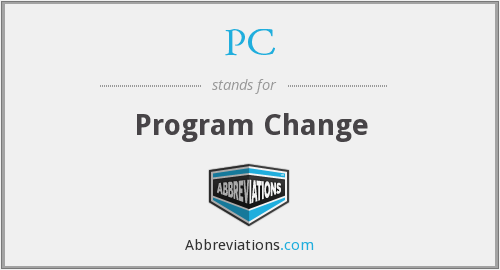 PC - Program Change