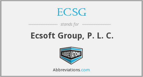 What does ECSG stand for?