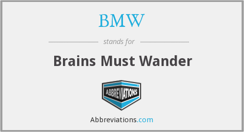 BMW - Brains Must Wander