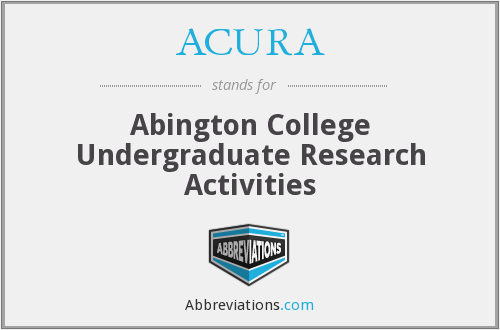 ACURA - Abington College Undergraduate Research Activities