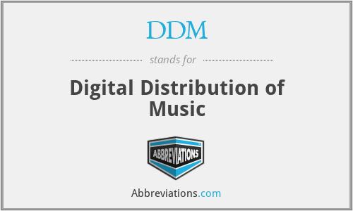 DDM - Digital Distribution of Music