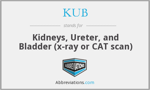 KUB - Kidneys, Ureter, and Bladder (x-ray or CAT scan)