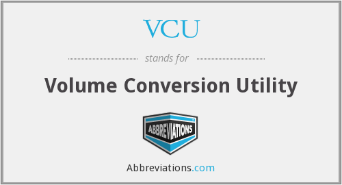 VCU - Volume Conversion Utility