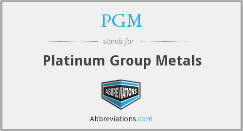 What does PGM stand for?