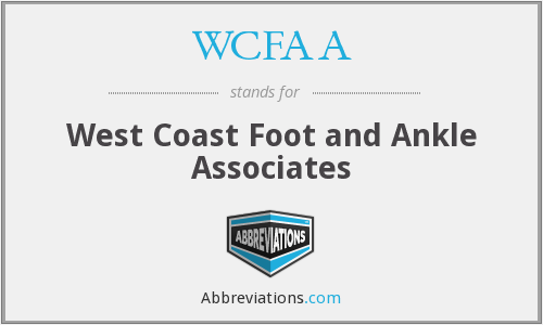 What does WCFAA stand for?