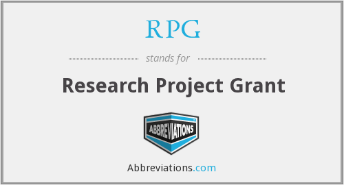 RPG - Research Project Grant