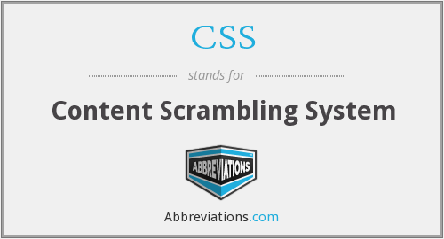 CSS - Content Scrambling System