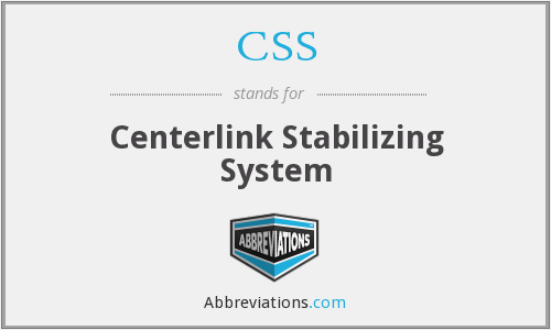 CSS - Centerlink Stabilizing System