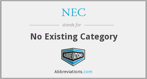 NEC - No Existing Category