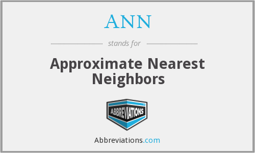 ANN - Approximate Nearest Neighbors