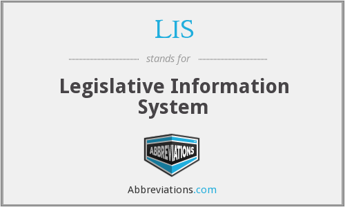 LIS - Legislative Information System