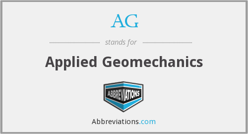 AG - Applied Geomechanics