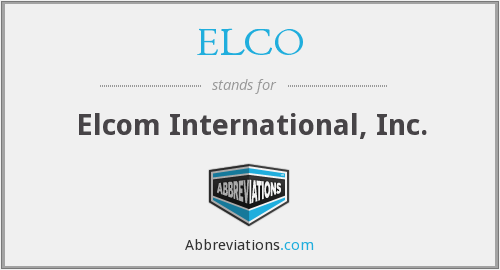What does ELCO stand for?