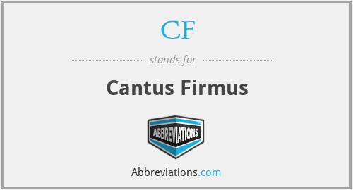 CF - Cantus Firmus